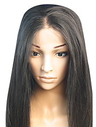 cheap -18inch straight middle part brazilian remy hair full lace wig