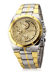 cheap -Men's Wrist Watch Aviation Watch Quartz Silver / Gold Casual Watch Analog Charm Classic fancy - White Black Gold / Black Two Years Battery Life / SOXEY SR626SW