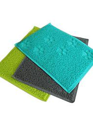 cheap -Bed Waterproof Pet Mats & Pads Plastic Green Blue Gray