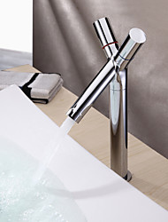 cheap -Bathroom Sink Faucet - Standard Chrome Centerset One Hole / Two Handles One HoleBath Taps