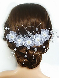 cheap -Imitation Pearl / Acrylic / Satin Flowers with 1 Wedding / Special Occasion Headpiece