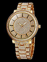 cheap -Women's Pave Watch Gold Watch Quartz Stainless Steel Silver / Gold Imitation Diamond Analog Sparkle Fashion Dress Watch - Gold Silver Two Years Battery Life / Maxell626