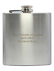 cheap -Personalized Father's Day Gift Curve 6oz Metal Flask