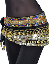 cheap -Belly Dance Coin Beading Crystals / Rhinestones Women's Training Polyester / Ballroom