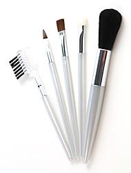 abordables -Professionnel Pinceaux à maquillage ensembles de brosses 5pcs Mini Voyage Mélange Premium sans défaut Polissage Pointillé Correcteur Pinceau en Poils de Chèvre Pinceaux de Maquillage pour Crème