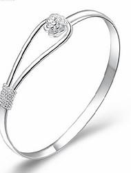 cheap -MISS U Women's Silver Romantic Flower Bracelet