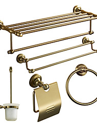 cheap -Bathroom Accessory Set Antique Aluminum 5pcs - Hotel bath Toilet Paper Holders / tower bar / tower ring Wall Mounted