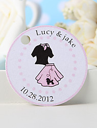 cheap -Personalized Gift 36pcs Suit Pattern Round Tag for Party and Lovers