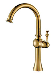 cheap -Bathroom Sink Faucet - Standard Antique Brass Vessel One Hole / Single Handle One HoleBath Taps