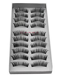 abordables -Cil 10 pcs Dense Cil Classique Quotidien Maquillage Cosmétique