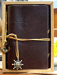 cheap -Travel Notepad Vintage Pirate Loose-leaf Notebook Diary 80page Kraft Paper Brown