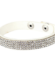 cheap -Women's Crystal Tennis Bracelet Leather Bracelet Cheap Unique Design Fashion Crystal Bracelet Jewelry Silver For Christmas Gifts Party Daily / Imitation Diamond