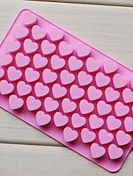 cheap -55 Holes Non-stick Silicone Chocolate Cake Love Heart Shaped Mold Bakeware Baking Jelly Ice Heart Mould