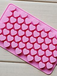 Недорогие -55 отверстий антипригарным силиконовый шоколадный торт в форме сердца формы для выпечки выпечки желе льда в форме сердца