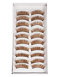 billige -Øjenvippe 10 pcs Volumiseret Øjenvippe Makeup Kosmetiske