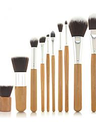 abordables -Professionnel Pinceaux à maquillage ensembles de brosses 10pcs Poil Synthétique / Pinceau en Fibres Synthétiques Pinceaux de Maquillage pour Set de Pinceaux de Maquillage