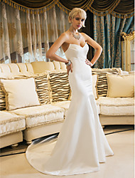 cheap -Mermaid / Trumpet Sweetheart Neckline Court Train Satin Strapless Vintage Inspired Made-To-Measure Wedding Dresses with 2020