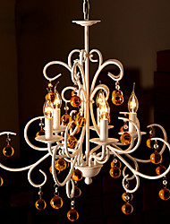 cheap -5-Light 60 cm (24 inch) Candle Style Chandelier Metal Painted Finishes Traditional / Classic 220-240V
