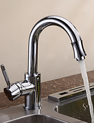 cheap -Deck Mounted Single Handle One Hole with Chrome Kitchen faucet