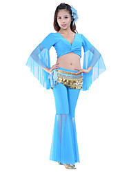 cheap -Belly Dance Outfits Women's Training Polyester Natural / Ballroom