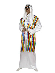 cheap -Prince Arabian Cosplay Costume Party Costume Men's Halloween Carnival Festival / Holiday Polyester Men's Carnival Costumes Striped / Headpiece