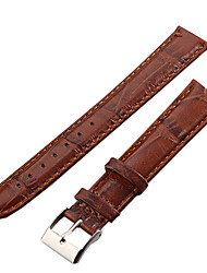 cheap -Watch Bands Brown Leather Watch Accessories 21.5*1.8*0.3 High Quality