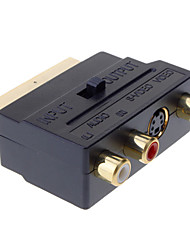 cheap -YongWei Scart to Composite 3RCA S-Video AV TV Audio Adapter