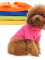 cheap -Dog Shirt / T-Shirt Shirt Puppy Clothes Solid Colored Winter Dog Clothes Puppy Clothes Dog Outfits Costume for Girl and Boy Dog Cotton XS S M L