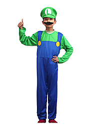 cheap -More Costumes Cosplay Costume Kid's Halloween Carnival Festival / Holiday Polyester Carnival Costumes Color Block / Hat