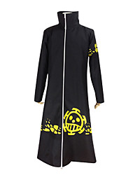 cheap -Inspired by One Piece Trafalgar Law Anime Cosplay Costumes Japanese Cosplay Suits Solid Colored Long Sleeve Coat For Men's