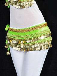 cheap -Belly Dance Belt Women's Training Polyester Beading Coin