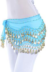 cheap -Belly Dance Belt Women's Training Chiffon Coin / Sequin Hip Scarf / Ballroom