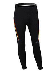cheap -Malciklo Men's Cycling Tights Black Germany Champion National Flag Bike Tights Bottoms Mountain Bike MTB Road Bike Cycling Thermal / Warm Fleece Lining Breathable Sports Winter Polyester Fleece