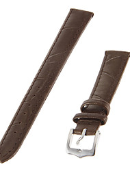cheap -Women's 14mm Genuine leather Watch Band (Brown)