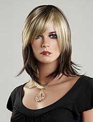Недорогие -Kanekalon японца 100% синтетическое Короткий прямой парик (смешанный цвет)