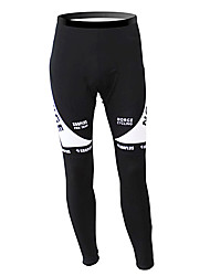 cheap -Malciklo Men's Cycling Tights Black / White Norway Champion National Flag Bike Tights Bottoms Mountain Bike MTB Road Bike Cycling Thermal / Warm Fleece Lining Breathable Sports Winter Polyester Fleece