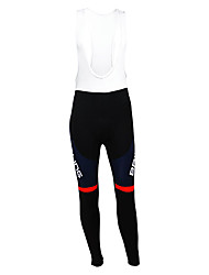 cheap -Malciklo Men's Cycling Bib Tights Black British Champion National Flag Bike Tights Bottoms Mountain Bike MTB Road Bike Cycling Thermal / Warm Fleece Lining Breathable Sports Winter Polyester Fleece