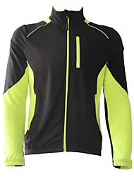 cheap -Jaggad Men's Cycling Jacket Bike Winter Fleece Jacket Top Thermal / Warm Windproof Fleece Lining Sports Polyester Spandex Fleece Winter Blue / Red / Yellow Mountain Bike MTB Road Bike Cycling