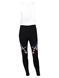 cheap -Malciklo Men's Cycling Bib Tights France Champion National Flag Bike Tights Thermal / Warm Fleece Lining Breathable Winter Sports Polyester Fleece France Mountain Bike MTB Road Bike Cycling Clothing