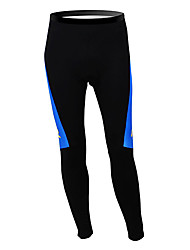 cheap -Malciklo Men's Cycling Tights Black / Blue Sweden Champion National Flag Bike Tights Bottoms Mountain Bike MTB Road Bike Cycling Thermal / Warm Fleece Lining Breathable Sports Winter Polyester Fleece
