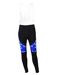 cheap -Malciklo Men's Cycling Bib Tights Black / Blue American / USA Champion National Flag Bike Tights Bottoms Mountain Bike MTB Road Bike Cycling Thermal / Warm Fleece Lining Breathable Sports Winter