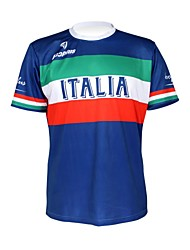 cheap -Malciklo Men's Women's Short Sleeve Cycling Jersey Italy Champion National Flag Bike Jersey Top Mountain Bike MTB Road Bike Cycling Breathable Quick Dry Ultraviolet Resistant Sports 100% Polyester