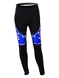 cheap -Malciklo Men's Cycling Tights Black / Blue American / USA Champion National Flag Bike Tights Bottoms Mountain Bike MTB Road Bike Cycling Thermal / Warm Fleece Lining Breathable Sports Winter