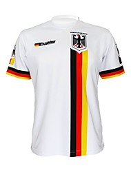 cheap -Malciklo Men's Women's Short Sleeve Cycling Jersey White Germany Champion National Flag Bike Tee / T-shirt Jersey Top Mountain Bike MTB Road Bike Cycling Breathable Quick Dry Ultraviolet Resistant