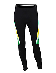 cheap -Malciklo Men's Cycling Tights Australia Champion National Flag Bike Tights Bottoms Mountain Bike MTB Road Bike Cycling Thermal / Warm Fleece Lining Breathable Sports Winter Polyester Fleece Clothing