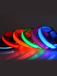 cheap -Dog Collar LED Lights Nylon Rainbow Yellow