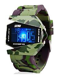 cheap -SKMEI Men's Military Watch Wrist Watch Digital Digital Charm Water Resistant / Waterproof Alarm Calendar / date / day / Two Years / Silicone