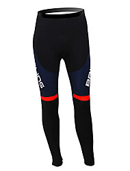 cheap -Malciklo Men's Cycling Tights Black British Champion National Flag Bike Tights Bottoms Mountain Bike MTB Road Bike Cycling Thermal / Warm Fleece Lining Breathable Sports Winter Polyester Fleece