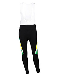 cheap -Malciklo Men's Cycling Bib Tights Black Australia Champion National Flag Bike Tights Bottoms Mountain Bike MTB Road Bike Cycling Thermal / Warm Fleece Lining Breathable Sports Winter Polyester Fleece