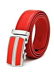 cheap -Men's Automatic Buckle Business Leather Belt